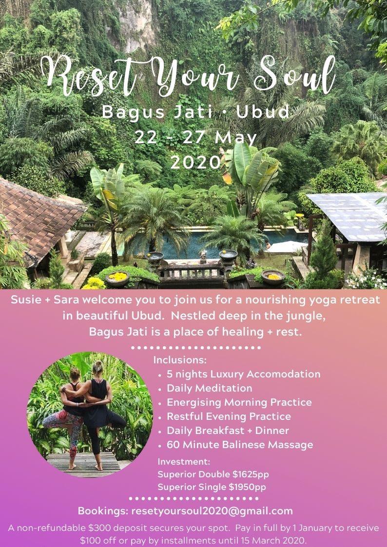 Bali retreat poster