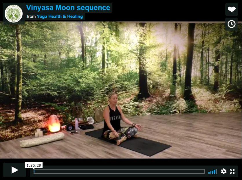 Vinyasa Moon sequence 1h 35 minutes